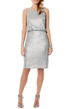 Laundry by Shelli Segal Sequin Blouson Dress available at #Nordstrom