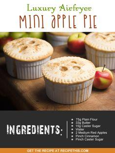 Airfryer Recipes   Luxury #airfryer mini apple pie
