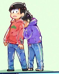 Matsuno Osomatsu and Ichimatsu ||| Osomatsu-san Fan Art by crispyfrites on Tumblr