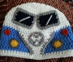 This is a pdf pattern to make an adult medium or large hat, My interpretation of a VW camper van. This listing is for the PATTERN only, not the