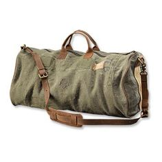 ef355c3891 vintage canvas and leather duffle bag from orvis - bags