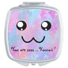 You are so Kawaii Pastel Magical Cute Face Makeup Mirror - animal gift ideas animals and pets diy customize
