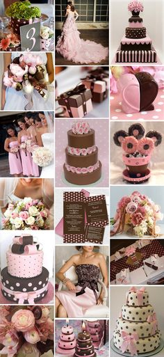 Pink and Brown wedding theme