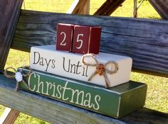 Christmas Countdown. Santa Countdown. Holiday by Kateslittleshop