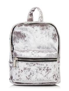 Skinnydip Black Crushed Velvet Backpack
