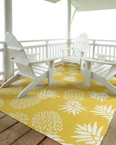 Golden Pineapple Rug