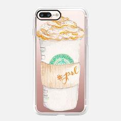 Pumpkin Spice Latte Starbucks Coffee Mug Watercolor - Classic Grip Hülle
