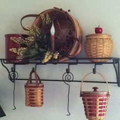 Longaberger baskets I have this shelf cant wait to hang it