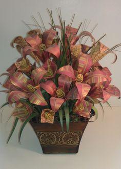 Autumn Origami Paper Flower Arrangement by FancyWhatNots on Etsy, $35.00