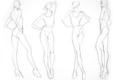 fashion illustration templates walking