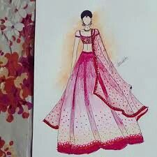 Lehenga, Saree, Without Dress, Figure Sketching, Fashion Figures, Fashion Sketches, Fashion Illustrations, India Fashion, All About Fashion