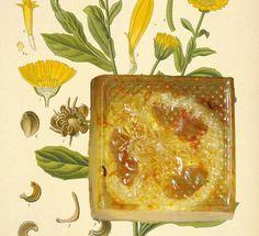 Glycerin soap, Calendula dried flowers, Sweet Orange and Mandarin essential oils.