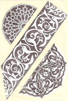Stencil Patterns, Stencil Designs, Tile Patterns, Pattern Art, Pattern Design, Ethnic Patterns, Textures Patterns, Stencils, Islamic Art Pattern