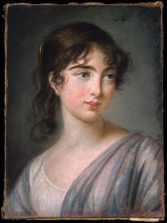 By Elisabeth Louise Vigee le Brun -might be artist's daughter, who was a frequent sitter Female Portrait, Portrait Art, Female Art, Beauty In Art, Beauty Women, Jean Antoine Watteau, Female Painters, Elisabeth, Marie Antoinette
