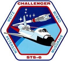 first flight of Challenger; first space shuttle extra-vehicular activity First Space Shuttle, Space Shuttle Missions, Nasa Missions, Apollo Missions, Astronauts In Space, Nasa Astronauts, Leonard Nimoy, Story Musgrave, Cosmos