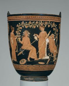 Bucket (situla).the Varrese Painter, Dated about 350–340 B.C. Dimensions Height (max.): 28.1 cm Medium Ceramic, Red Figure Collections The Ancient World Classifications Vessels Culture Greek, South Italian Period Late Classical Period