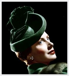 classic actresses wearing hats in color Film Movie, 1940s Fashion, Vintage Fashion, 1940s Hats, Deborah Kerr, Vintage Glamour, Vintage Hats, Western Hats, Old Hollywood Stars