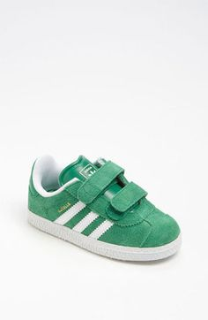 adidas 'Gazelle' Sneaker (Baby, Walker & Toddler) by nordstrom Baby Boy Shoes, Toddler Shoes, Boys Shoes, Adidas Kids Shoes, Toddler Boy Sneakers, Toddler Boy Fashion, Baby Girl Fashion, Kids Fashion, Man Fashion