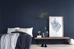 no media 360798 Huntonit-Skygge-Deep-Ocean-c. Tapestry, Ocean, Curtains, Bed, Furniture, Home Decor, Little Cottages, Velvet, Hanging Tapestry