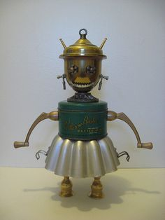 pretty bling - found object robot