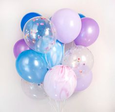Blue & purple, Confetti balloon - set of 20, Mermaid, Frozen, birthday party :-) - AU free shipping