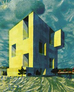 UC Innovation Center by Alejandro Aravena for wired.jp #architecture #tatsurokiuchi #chile #illustrator #architect #illustration #alejandroaravena #landscape