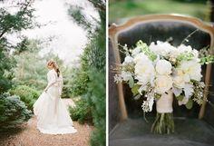 Fairy Tale Garden Wedding, bride, bouquet, vintage, wedding dress. For more inspiration, visit www.fetenashville.com | Féte Nashville