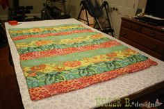 Simple Striped Self-Binding Quilt: A How-To