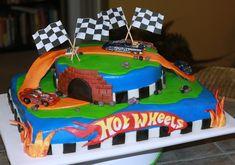 Hot Wheels Birthday Cake on Cake Central Bolo Hot Wheels, Hot Wheels Cake, Festa Hot Wheels, Hot Wheels Party, 7th Birthday Cakes, Boy Birthday Parties, Baby Birthday, Birthday Ideas, Hotwheels Birthday Cake