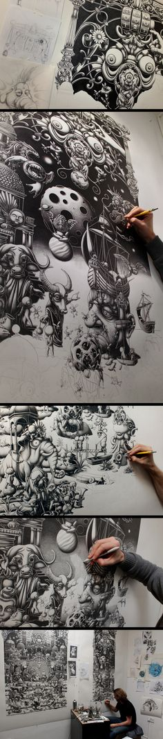 Joe Fenton | A Triptych - The Landing- 2014 - Right Panel