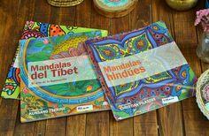 Rangolis #Mágicos, del Tibet,  hindues, modernistas y una gran variedad de #MANDALAS, en libros para colorear. Disponibles en nuestra tienda de Chiapas #54, col. Roma ¡Modelos únicos! CDMX, 2017