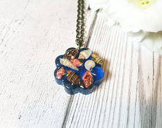 Seashell necklace - resin necklace - seashell jewellery - ocean jewelry - mermaid jewellery - boho jewelry - shell necklace - resin pendant