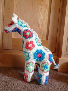 Crocheting at Timaru: Effey the Heffalump and Jeff the Giraffe
