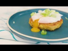 (1) Breakfast Mashed Potato Cakes with Poached Egg – Savory - YouTube