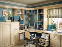 fitted study furniture in maple