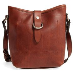 Women's Frye Amy Leather Crossbody Bag (17.740 RUB) ❤ liked on Polyvore featuring bags, handbags, shoulder bags, cognac, brown crossbody, brown leather handbags, crossbody purses, leather crossbody and brown crossbody purse