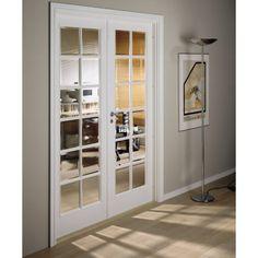 Swedoor Style SP12+SP12 hvidmalet dobbeltdør celle m/glas m15x21 / 72,5+72,5x204cm