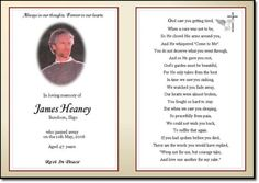 Memorial Card Template Free   Download Word Template of this ...