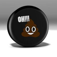 Oh Sh*t!! Poop Emoji Vinyl Spare Tire Cover