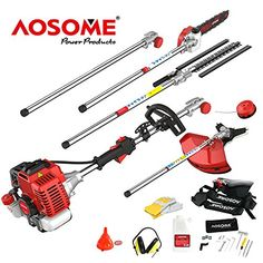 AOSOME 52CC 5 in 1 Professional Petrol Multi Function Garden Tool - Hedge Trimmer, Strimmer, Brush Cutter, Pruner Chainsaw & Extension Pole---159.99---