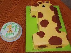 Sweetdeneas Cakes Giraffe Themed 1st Birthday Party abbys board