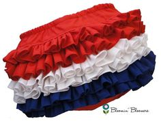 4th of July Mini Ruffle Diaper Cover Bloomers by BloominBloomers, $25.00