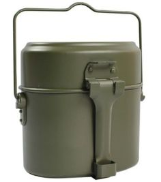 Army Soldier Military Outdoor Camping Mess Kit Lunch, Dinner Box Canteen Kettle Pot