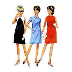 1960s Shift Dress McCalls 9255 Vintage Sewing Pattern