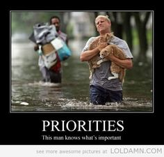 The right priorities