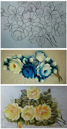 Painting Videos, Embroidery Patterns, Images, Ribbon, Crafts, Ideas, Shabby Chic Painting, Pink Blossom, Paint Patterns