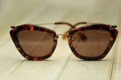 MIUMIU-Sunglasses- MIUMIU Noir MU10NS-blonde havana/brown red GLITTER GOLD Brown lens 7S00A0