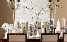 Jackie Fo: Silver and White Holiday Table Decor