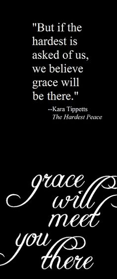 why we're all dying to catch what Kara has... #karatippetts #cancer #faith #thehardestpeace
