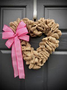 Heart Wreaths Door Wreaths Heart Fun Wreath Pink White